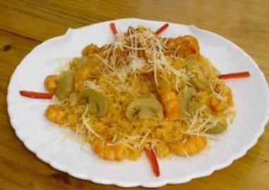 Rissotto de Camarones, arroz delicioso
