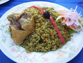 Arroz con Pato a la Chiclayana  Verde exquisito