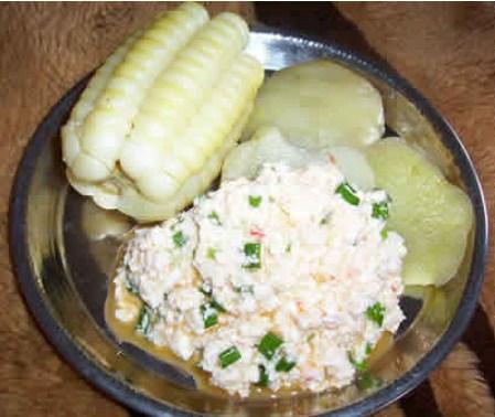 Qapchi, manjar de queso