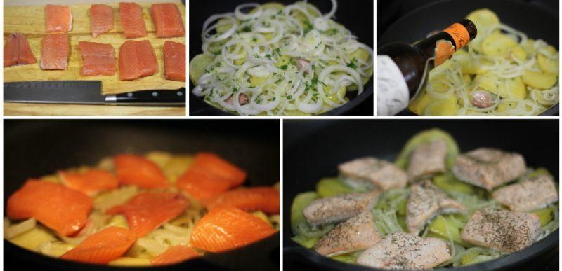 salmon al horno con patatas paso a paso