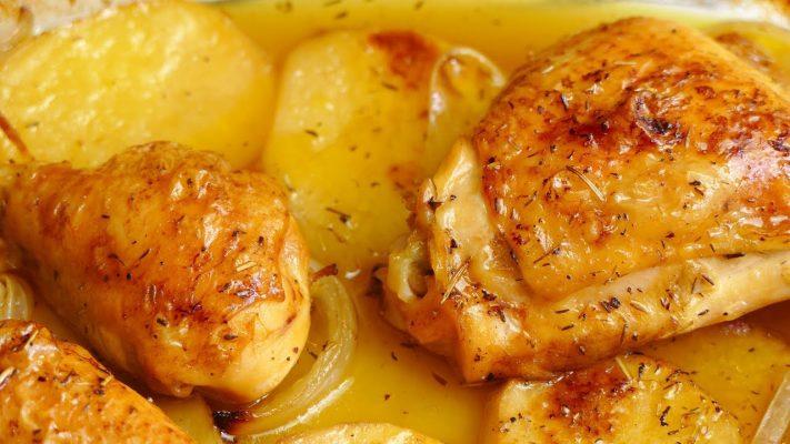 pollo al horno con patatas