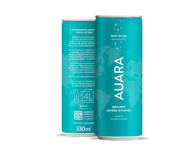 AUARA lanza su nueva agua mineral natural con gas envasada en lata de 330 ml