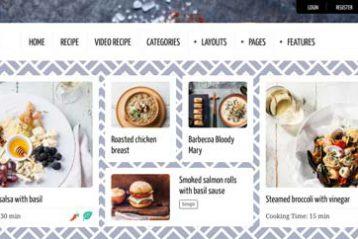 themes en weblfow para recetas
