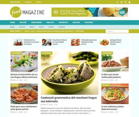 plantilla para web de recetas
