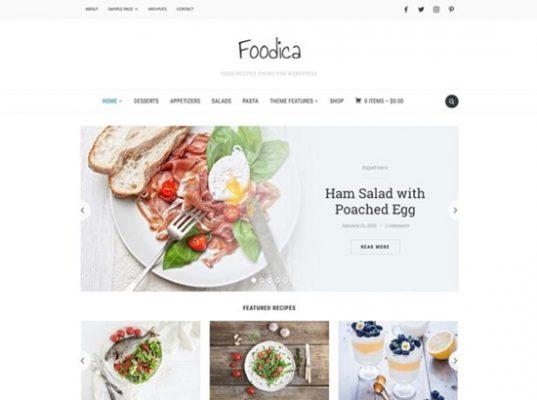 tema para web de recetas